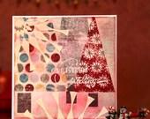 HANDMADE CHRISTMAS CARD, Christmas Card, Christmas Decoration, Christmas Decor, Seasons Greetings, Merry Christmas, Happy Holidays, Vintagee