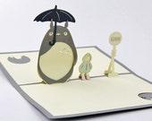 Totoro by Hayao Miyazaki 3D Pop-Up Greeting Card