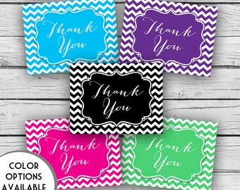 Printed THANK YOU CHEVRON Note Card Set, Motivational Cards, Positive Inspiration, Printed Thank You Cards, Stationery