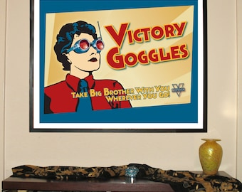"""Victory Goggles 30""""w x 24""""h Giclee"""
