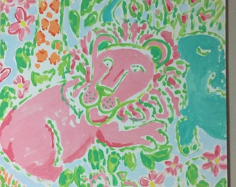 Lilly Pulitzer Inspired Jungle Painting (18 x 24)