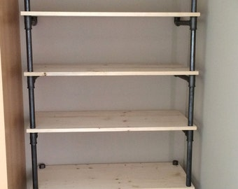 Library shelves industrial style plumbing pipe factory industrial shelves