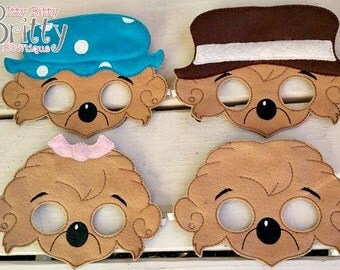 Berenstain Bears, Momma bear, Papa bear, Brother bear, sister bear inspired mask set