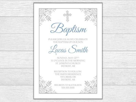 Baptism invitation baptism invite baptism religious invitation baby baptism invite digital download printable invite baby baptism invitation