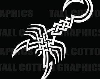 Tribal Scorpion Vinyl Decal #BS009