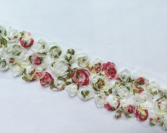 1 yard Width 2.36 inches lace trim, bridal lace trim, cotton fabric lace, lace trim for bridal ,flowers fabric(121-21)