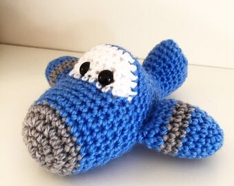 Crochet Aeroplane Rattle Toy