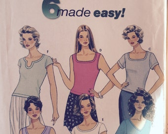 Easy Knit Top Pattern Simplicity 9116