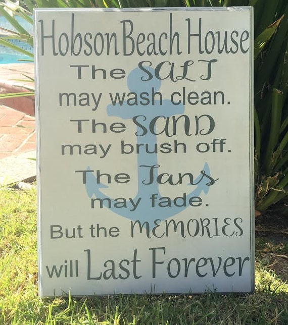 Personalized Beach House Plaques: Items Similar To Beach House Sign,Beach House Decor