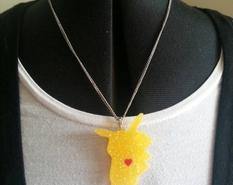 Sparkle Pokemon Pikachu Pendent and Chain