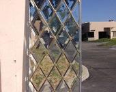 Beveled Leaded Glass Panel