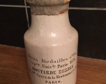 Rare French Mustard Pot Moutarde Bordin Paris
