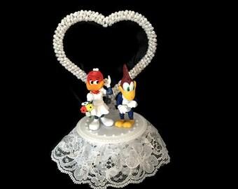 Woody the Woodpecker and Winnie the Woodpecker Wedding Cake Topper