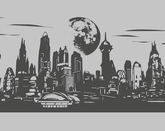 Gotham City Wall Decal Etsy