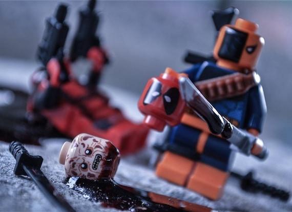 Deathstroke And Deadpool Lego Vs themed