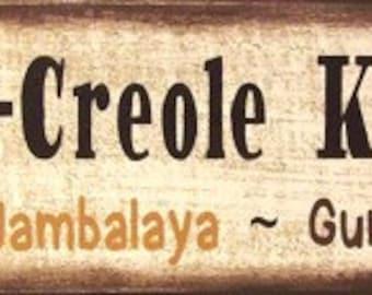 Cajun Creole Kitchen Crawfish Fence Board Primitive Rustic Sign Home Decor
