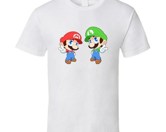 Super Mario Bros. - Mario and Luigi - White T-Shirt