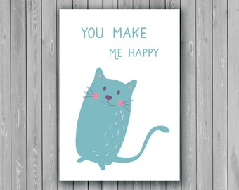 Happy card, Friend Greetings card/postcard, Happiness Card