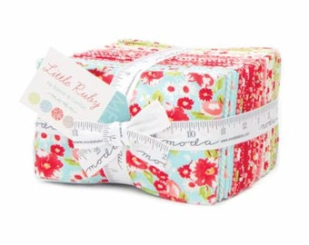 PRE ORDER Little Ruby Fat Eighth Bundle (Factory Cut) by Bonnie and Camille for Moda 55130F8 Free Shipping