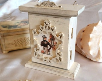 key box, handmade, wooden key box, wall key holder, home decor, key cabinet, decoupage, Key Storage, storage box keys