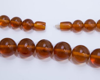 Antique Edwardian C1910, Butterscotch Amber Bead Necklace