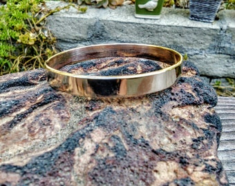 Simply Bronze  Cuff Bracelet.  1.5mm X 8mm Thick and Wide.