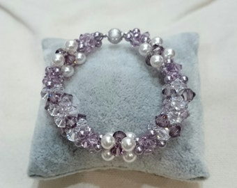 Light Purple and Pink Colour based Rope Weave Bracelet