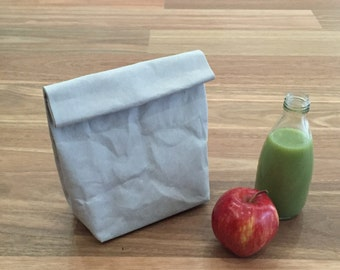 Washable Paper Lunch Sack / Lunch Bag / Eco Bag / Paper Bag / Washable paper bag / Eco Product Packaging