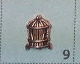 BIRD cage floating charm, rose gold