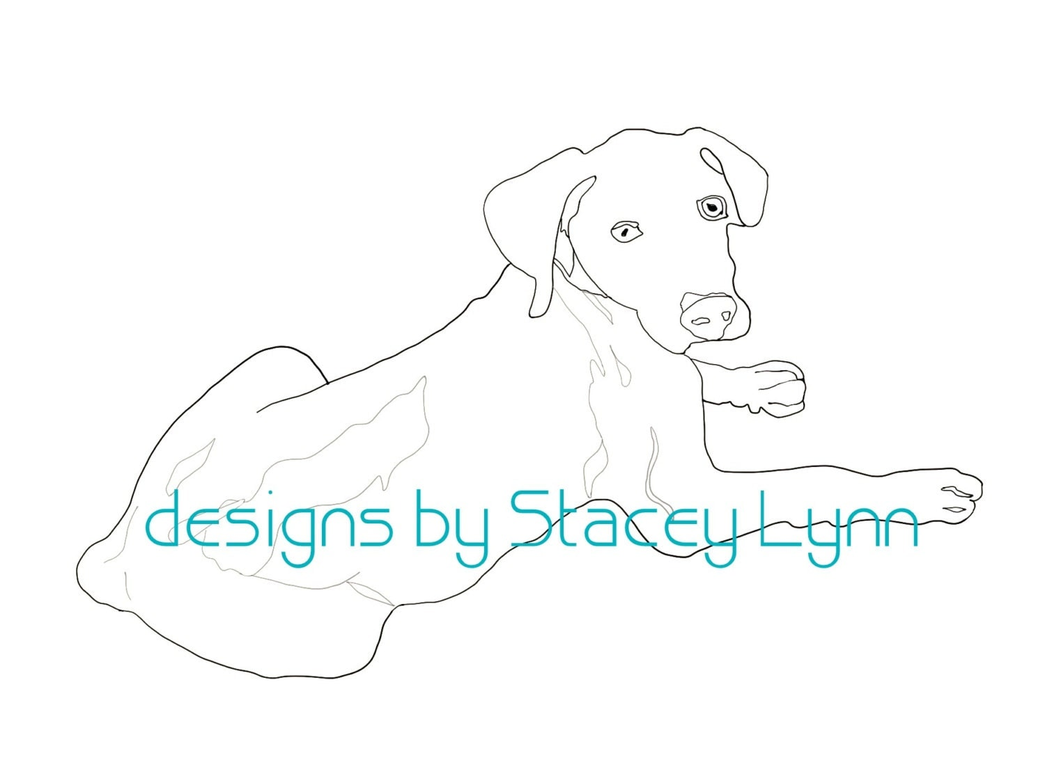 Weimaraner coloring page digital download for Weimaraner coloring pages