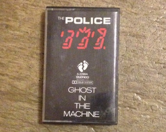 "RARE The Police ""Ghost In The Machine"" Japan Release Cassette Tape"