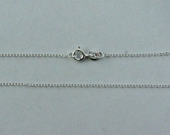 Sterling Silver, Jewelry Chain, Oval Cable, Finished Chain, Dainty Chain, Tiny Necklace, 18 inch, 1.2mm, Fast Shipping from USA