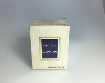 Celeb Owned Vintage Sealed NIB Old Formula Lanvin Arpege Extrait 1/2oz 15ml Pure Perfume In Box, Vintage Perfume, Vintage Lanvin Perfume