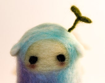 Needle Felted Creature Podling Ready to Ship