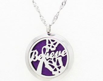 Essentail Oil Diffuser Necklace- Believe