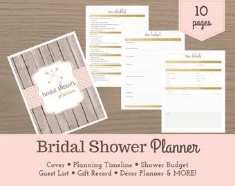 Bridal Shower Planner / Bridal Shower Checklist / Wedding Planner / Party Planner