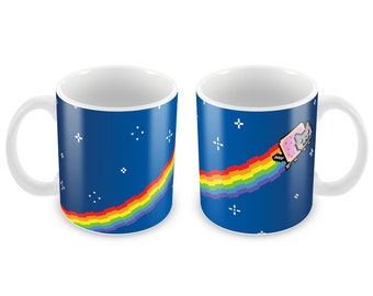 Nyan Cat Mug - Funny meme gift idea coffee- Celebrations Gift Present Birthday Christmas Office Secret Santa