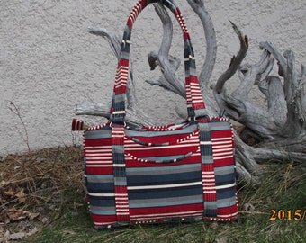 Red, White and Blue Purse