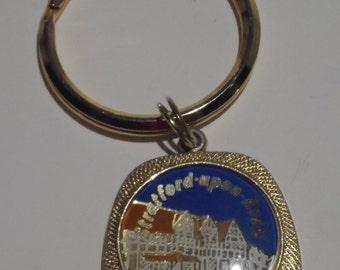 Stratford Upon Avon Vintage Souvenir Keyring Large Ring Small Fob