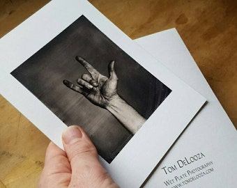 I love you Wet Plate Collodion Photo greeting card.