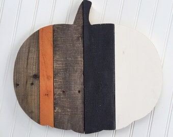 READY TO SHIP Large Reclaimed Wood Pumpkin, Halloween Decor, Pallet Wood Pumpkin, Fall Decoration