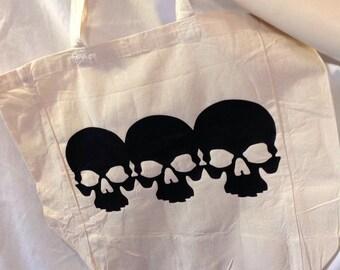 Black Skulls Tote