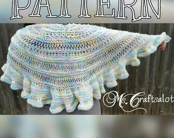 Enchanted Melody Shawl Knit PATTERN