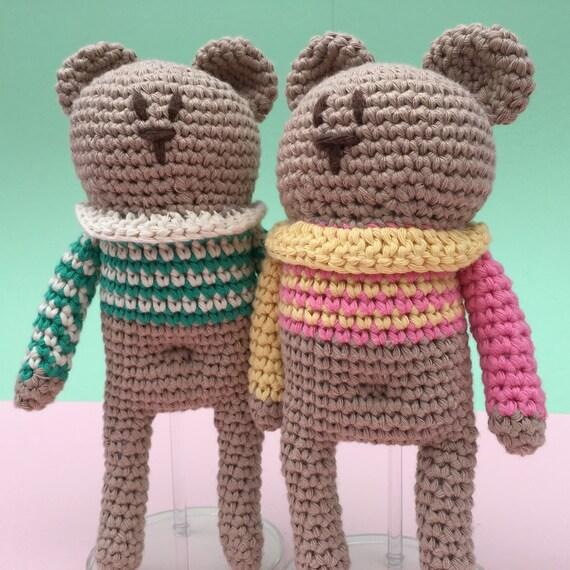 Bearlie the bear crochet doll