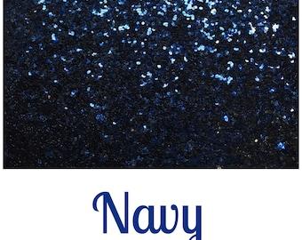 Chunky Glitter Fabric - Navy