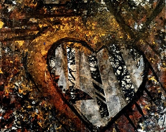Copper Hearts Original Painting