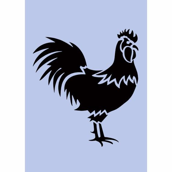 Rooster Stencil Cockerel Chicken A4 8 X 11 5