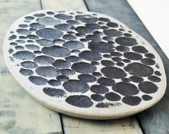 Concrete Tray:  Kevlar Reinforced, Handmade/Hand Painted Valet Tray