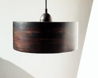 WOOD PENDANT LAMP - rustic pendant light
