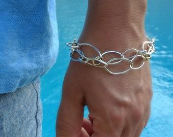 Handforged Silver Link Bracelet